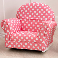 Polka Dot Upholstered Rocker