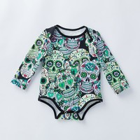 Skull 💀 Print Infant Novelty 👶 Baby Clothes