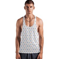 Coral pink, serenity blue & lilac grey droplets pattern Vest by Savousepate from €25.00   miPic