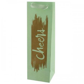 Cheers Gold Foil Bottle Gift Bag