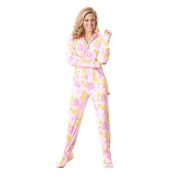 Pink Tweety Bird Onesuit Pajamas
