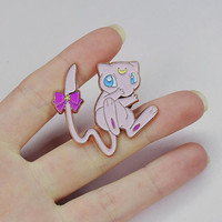 Rose Gold Sailor Mew Soft Enamel Pin
