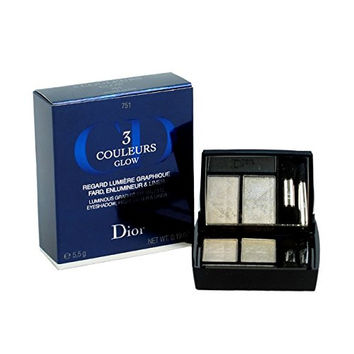 Christian Dior 3 Couleurs Glow Eyeshadow Palette Silver Glow for Women, 0.2 Ounce