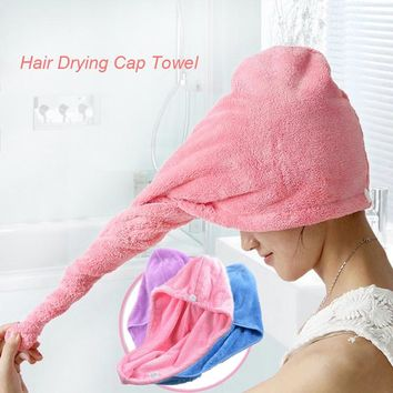 relefree Quick Dry Microfiber Towel Hair Magic Drying Turban Wrap Hat Cap Spa Bathing Fitness Hair band Hot