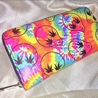 SWEET LORD O'MIGHTY! TIEDYE STONER ALIEN WALLET