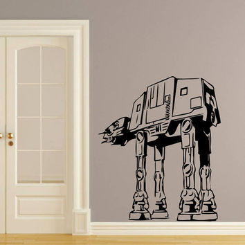 Wall Decals Vinyl Sticker Decal Art Home Decor Mural Star Wars AT-AT Walker Kids Children Nursery Room Bedroom Office Window Dorm AN235