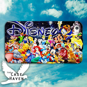 Disney Collage character love funny cute tumblr Custom iPhone Case for iPhone 4 and 4s and iPhone 5 and 5s and 5c Case