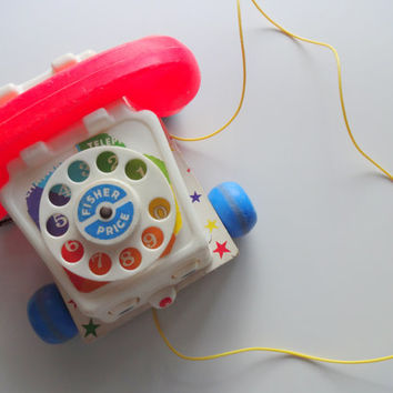 Vintage Fisher Price Chatter Telephone Toy 1961