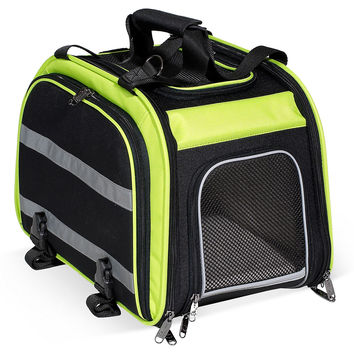 Expandable Rear Bike Pet Carrier, Lime, Carriers