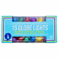 colorful globe lights 15-count|Five Below