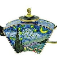 Van Gogh Starry Night Miniature Porcelain Teapot
