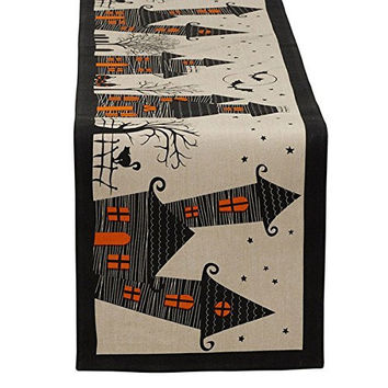 Haunted Houses Table Runner