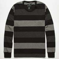 Shouthouse Block Stripe Mens Thermal Charcoal  In Sizes