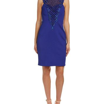 Sue Wong - Embroidered Illusion Bateau Dress N5345NM