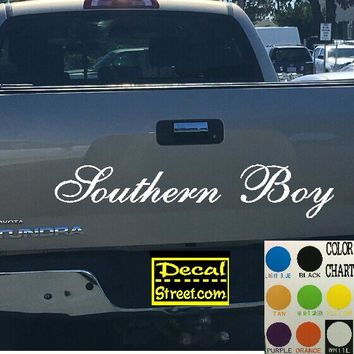 Southern Boy Tailgate Decal Sticker 4x4 Diesel Truck SUV