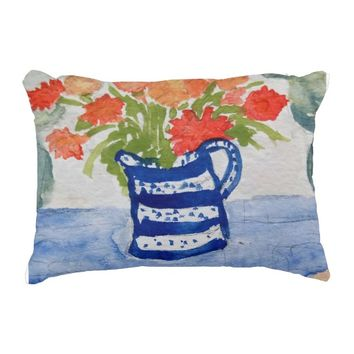 French Pot Accent Pillow