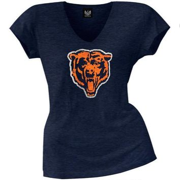MDIGON Chicago Bears - Scrum Logo Premium Juniors V-Neck T-Shirt