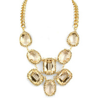 Pree Brulee - Vintage Glam Clear Crystal Necklace