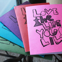 Love the life you live cards pride edition Bob Marley inspirational quote