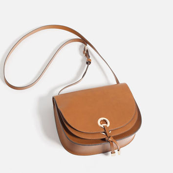 CROSS-BODY BAG WITH DOUBLE FLAP