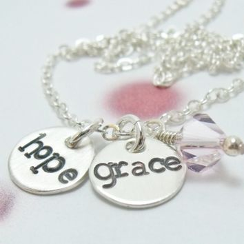 Two Disc Mommy Necklace