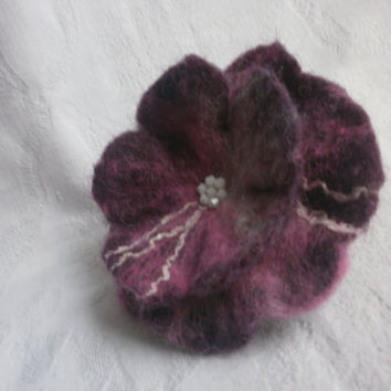 Felt Poppy Flower brooch,pink felt wool flower,white wool felt brooch,purple wool felt flowers corsage brooch pins,scarf,jewelry accessories