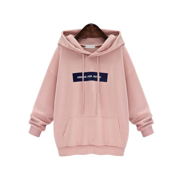 Winter Casual Cotton Love Pink Hooded Sweatshirt Kpop Cute Womens Hoodie Long Fleece Plus Size M-3XL Sailor Moon Totoro Bts Pink Hoodie