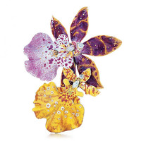 Tiffany & Co. - Orchid Enamel Brooch