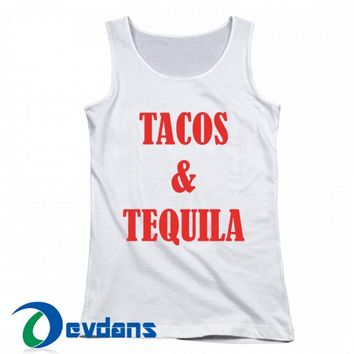 Tacos And Tequila Red Tank Top Men And Women Size S to 3XL