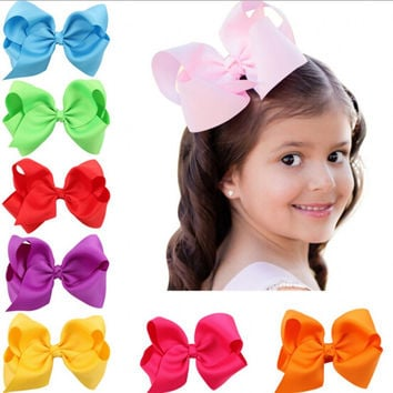 1PCS Infant hairbows Ribbon bow hair clip Baby girls hairclip Girls Boutique Handmade Hair Bow prendedor de cabelo 12 colors