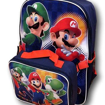 Nintendo Super Mario Backpack with Detachable Insulated Lunch Box …