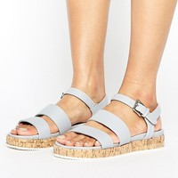 Head Over Heels By Dune Latin Cork Flatform Sandals at asos.com