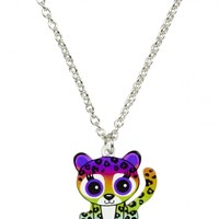 Rainbow Ombre Cheetah Necklace