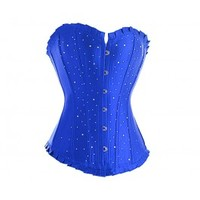 A3059 - Blue Diamante Corset