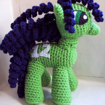 Crochet Seattle Seahawks My Little Pony