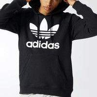 Adidas: Sets the new sports leisure hooded with velvet who men and women garment unlined upper garment of loose couple costume