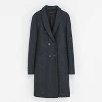 MASCULINE DOUBLE BREASTED COAT - Coats - Woman | ZARA United States