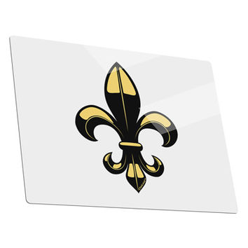 Golden Fleur de Lis Metal Panel Wall Art Landscape - Choose Size