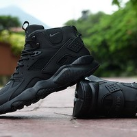 Air Huarache Run Ultra High Black Sneaker Shoes | Best Deal Online