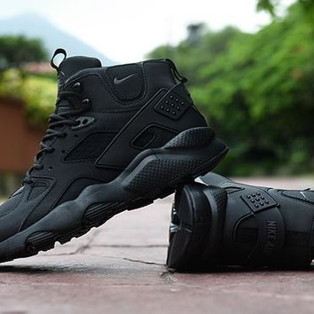 Air Huarache Run Ultra High Black Sneaker Shoes