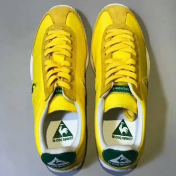 Le Coq Sportif  Men Fashion Casual Sport Shoes Sneakers Yellow G-CSXY