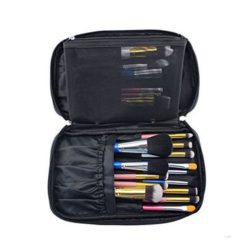 Hotrose® Timed Promotion Multifunctional Makeup Brush Zipper Cosmetic Case for Travel & Home Use(Small Size)