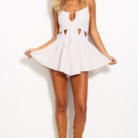 Space Oddity Playsuit Grey