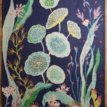 Waterblooms Rug by Anthropologie in Navy Size: