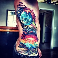 Paint Splatter Tattoos / Wow. This has some ... - inspiring picture on Favim.com