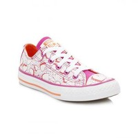 Converse All Star Chuck Taylor Junior Magenta Glow/WIld Mango Trainers