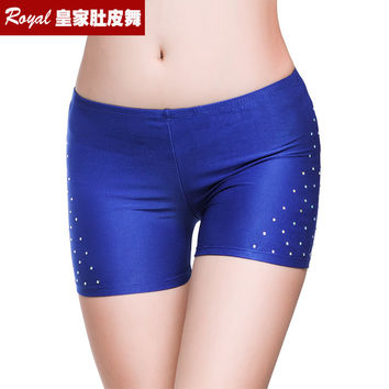 Sexy Hot Rhinestones Shorts Women Lady's Belly Dance Safety Short Pants Underwear Night Club Party Evening Bellydance Panties
