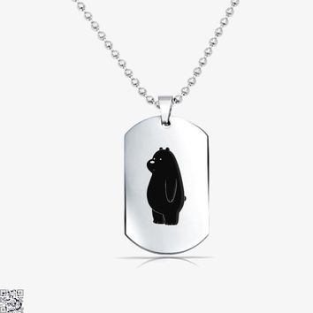 Ice Bear, We Bare Bears Tag Necklace