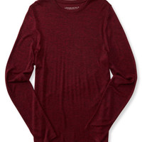 Long Sleeve Marled Crew-Neck Tee