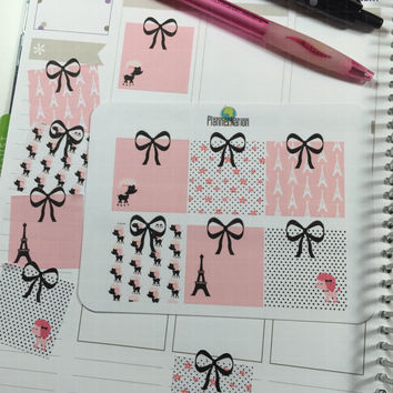 Sticky Note Planner Stickers-Paris and Poodles- Perfect for Erin Condren, Happy Planner, Filofax, Plum Planner, Kikki K, and scrapbooking!